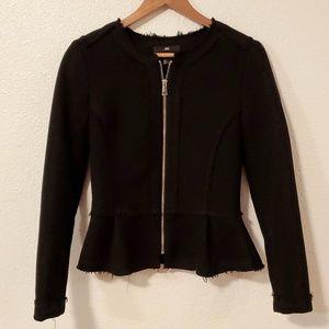 H&M Black Peplum Tweed Jacket
